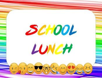 Emoji Attendance and lunch menu