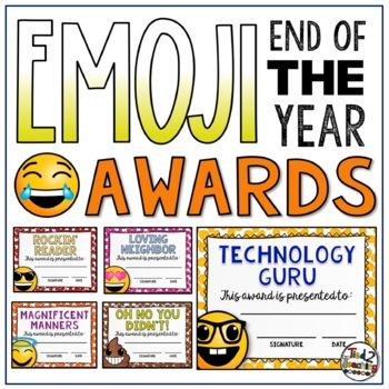End of the Year Classroom Awards - Editable Emoji Awards