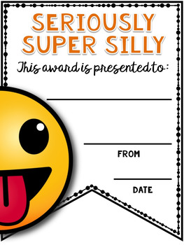 End of the Year Awards - Editable Emoji Pennant Awards