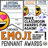 End of the Year Awards - Editable Emoji Pennant Awards