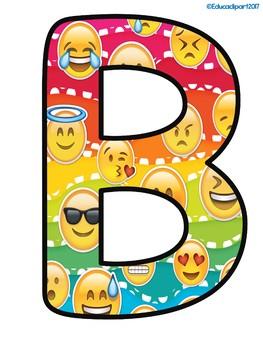 """Emoji """"BIENVENIDOS"""" letras"""