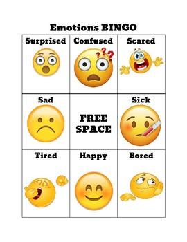 Emoji BINGO: Social Skills Game