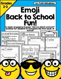 Emoji Back To School All About Me booklet