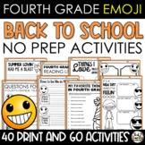 Emoji Back to School Activities Fourth Grade