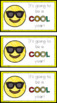 Emoji Back to School Cards (First- Fifth Grade)