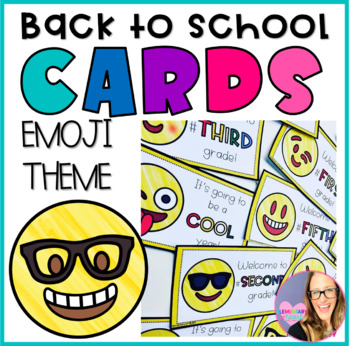 Stupendous Emoji Back To School Cards First Fifth Grade By Elementary At Heart Funny Birthday Cards Online Fluifree Goldxyz