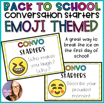 Emoji Back to School Conversation Starters