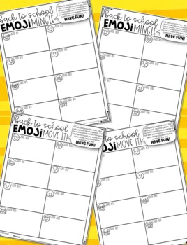Emoji Back to School Get to Know You Activity | Back to School Activities