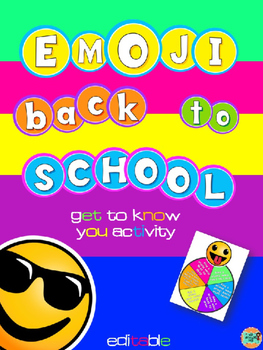 Emoji Back to School Get to know you activity-Editable