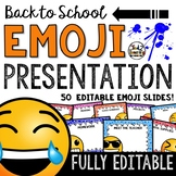 EMOJI Back To School PowerPoint Open House & Meet The Teacher Template EDITABLE