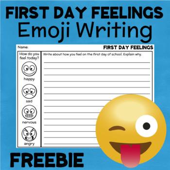 Emoji Back to School Writing FREEBIE
