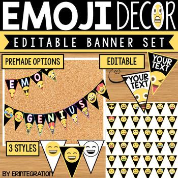 Emoji Banner - Editable