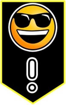 Emoji Banners- Black Background with Yellow Trim