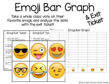 Emoji Bar Graph and Exit Ticket