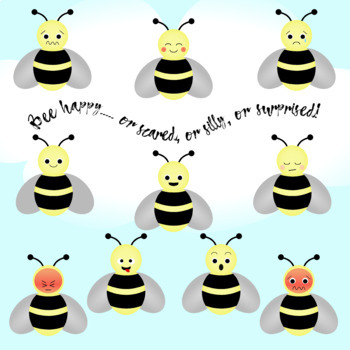 Emoji Bees Clipart