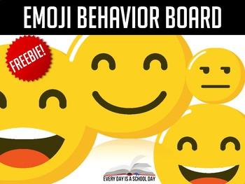 Emoji Behavior Board FREEBIE (Black & White)