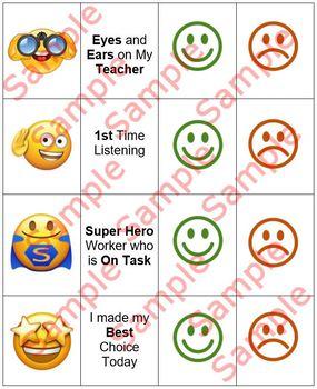 Emoji Behavior Chart