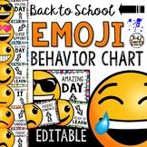 Emoji Behavior Chart: Editable Back to School Classroom Decor