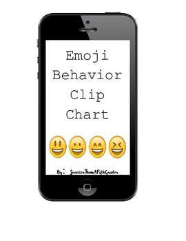 Emoji Behavior Clip Chart