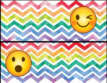 Emoji Behavior Clip Chart-Rainbow