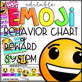 Emoji Behavior Clip Chart, Punch Cards, and Daily Check-In Slips EDITABLE