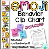 Emoji Behavior Editable Clip Chart with Positive Notes and Reflection Form
