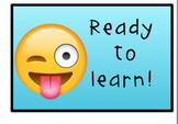 Emoji Behavior Management Clip Chart