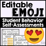 Emoji Behavior Charts/ Self Assessments (Editable)