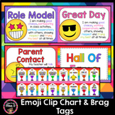 Emoji Behaviour Chart and Brag Tags