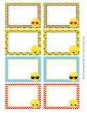 Emoji Bin Labels Classroom Decor