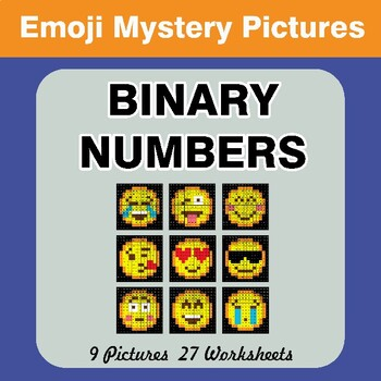 Emoji: Binary Numbers - Mystery Pictures / Color By Number