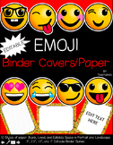 Emoji Binder Cover and Paper Set - Classroom Decor: EDITABLE