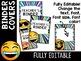 Emoji Classroom Decor: Editable Binder Covers