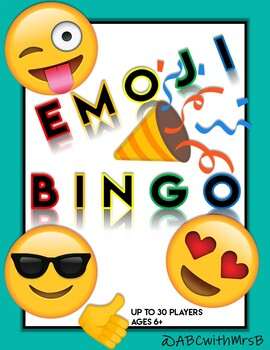 Emoji Bingo Worksheets & Teaching Resources | Teachers Pay Teachers