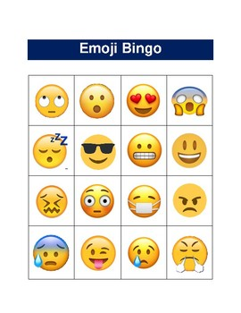 graphic about Emoji Printable Sheets referred to as Emoji Bingo Sheet