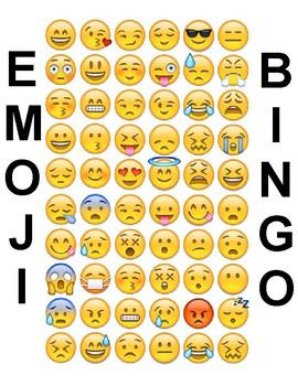 Emoji Bingo and Matching Games