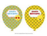 Emoji Birthday Balloons