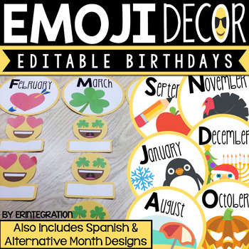 Emoji Birthday Display
