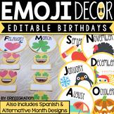Emoji Birthday Display - Editable