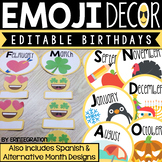 Emoji Birthday Display - Editable
