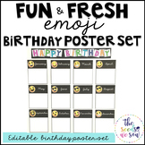 Emoji Classroom Decor: Birthday Poster Set