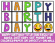 Emoji Classroom Decor: Birthday Poster Set