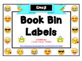 Emoji Classroom Library Book Bin / Basket Labels - EDITABLE!