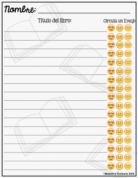 Emoji Book Log
