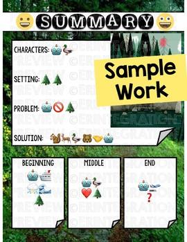 Emoji Book Summary Using Pic Collage on the iPad