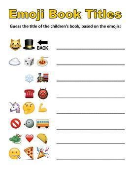 emoji book titles by peter blenskithe lego librarian tpt
