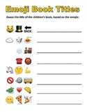 Emoji Book Titles Quiz