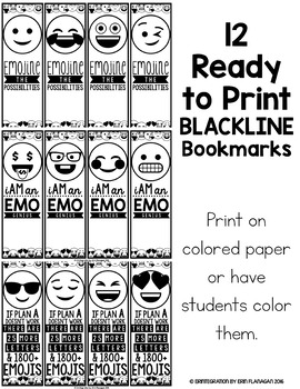 Emoji Bookmarks -  Editable