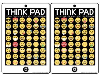 Emoji Bookmark Think Pads