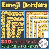 Emoji Borders and Frames - 340 Large Smile Borders {Portra